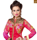 STYLISH BAZAAR INTRODUCES LOVELY PINK AND CREAM DESIGNER SUIT WITH PLAZZO STYLE RTSWR3809