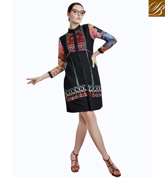 BUY ONLINE DESIGNER KURTIS TO WEAR WITH JEANS VDETC38