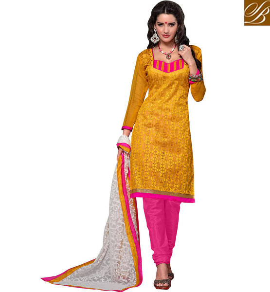 SUBLIME STRAIGHT CUT DESIGNER SALWAAR KAMEEZ PATTERN VDBLS3910 BY YELLOW