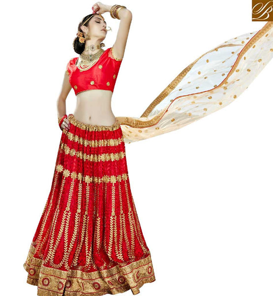 STYLISH BAZAAR PLEASING MAROON NET DESIGNER LEHENGA CHOLI WITH HEAVY EMBROIDERY WORK SLGAJ396B