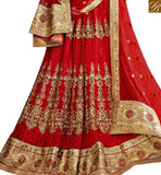 BROUGHT TO YOU BY STYLISH BAZAAR ATTRACTIVE MAROON NET DISPLAYING HEAVY EMBROIDERED LEHENGA CHOLI SLGAJ397A
