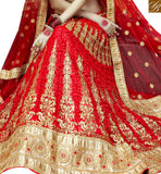 MAROON NET DESIGNER LEHENGA CHOLI HAVING WONDERFUL RESHAM EMBROIDERY SLGAJ398B