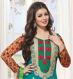 BOLLYWOOD HEROINE AYESHA TAKIA COTTON SALWAR KAMEEZ DRESS MATERIAL