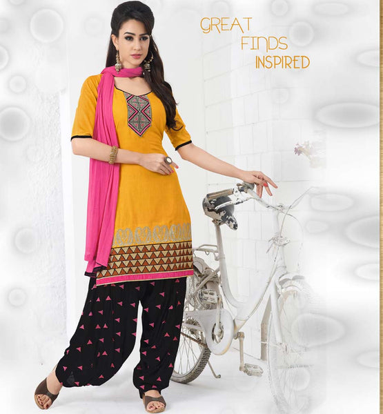 BUY DESIGNER COTTON PATIALA SALWAR KAMEEZ