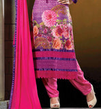 BUY ONLINE EMBROIDERED & PRINTED PARTY WEAR GEORGETTE SALWAR SUIT PINK