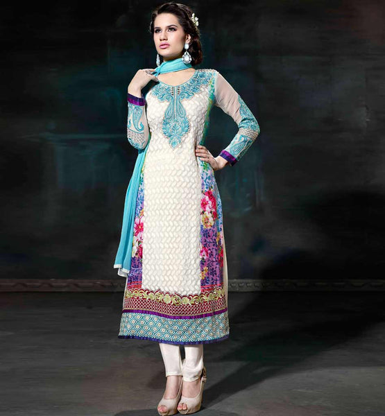 CLASSY STRAIGHT CUT SALWAR SUIT ONLINE SHOPPING FREE HOME DELIVERY