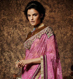 DESIGNER SAREES ONLINE SHOPPING WITH PRICE LATEST GOLDEN ART-SILK BLOUSE IMAGE