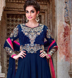 RICH GEORGETTE ANARKALI DRESS PURE CHIFFON DUPATTA & SANTOON BOTTOM