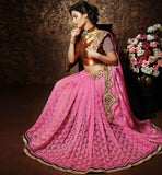 DESIGNER SAREES ONLINE SHOPPING WITH PRICE LATEST GOLDEN ART-SILK BLOUSE ALBUM BROCHER PICTURE