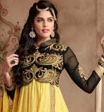 YELLOW PARTY WEAR SALWAR KAMMEZ WITH DUAPPTA