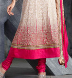 excellent Indian wedding wear heavy embroidery pure georgette kalidar dress