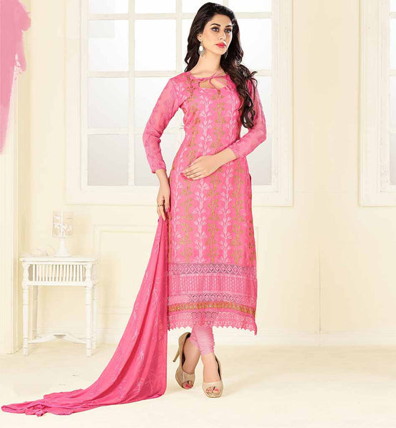 PUNJABI SALWAR KAMEEZ DESIGNS WITH LACE WORK DUSTY PINK SOFT LAWN COTTON OVERALL EMBROIDERED LONG KURTI