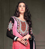 COOL PRINTED PARTY WEAR SALWAR SUIT WITH EMBROIDERY WORK