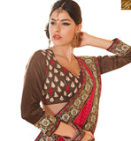 BROUGHT TO YOU BY STYLISH BAZAAR EXCITING PARTY WEAR SARI BLOUSE DESIGN RTHTS4001