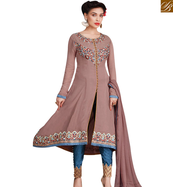 STYLISH BAZAAR ADORABLE BROWN COLORED DESIGNER SALWAR SUIT RTZN4001