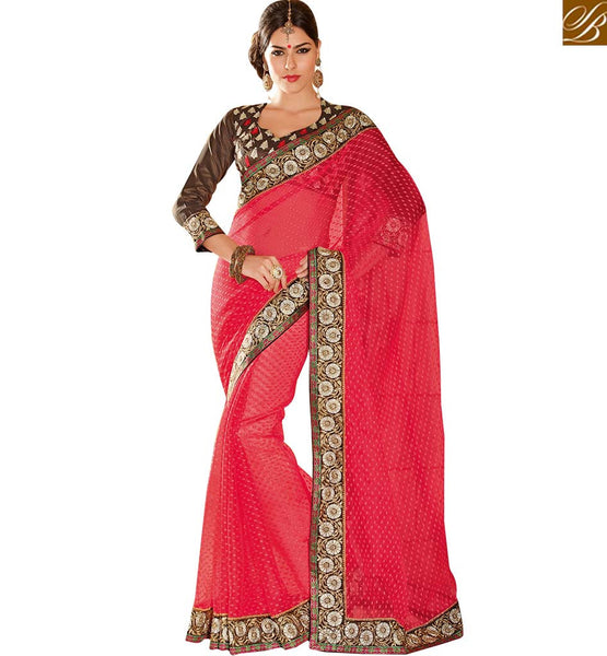 EXCITING PARTY WEAR SARI BLOUSE DESIGN RTHTS4001 BY STYLISH BAZAAR