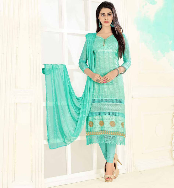 PUNJABI SALWAR KAMEEZ NECK DESIGN WITH PIPING SKY BLUE COLOR SOFT LAWN FABRIC STRAIGHT CUT DRESS WITH MATCHING SALWAR AND DUPATTA