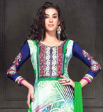 EXCELLENT PRINTED GEORGETTE DRESS WITH NAZNEEN DUPATTA