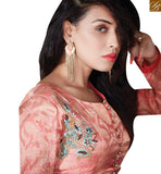 LOVELY CREAM & PEACH COLORED DESIGNER SALWAR KAMEEZ RTZN4002
