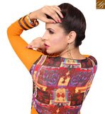 FROM THE HOUSE OF STYLISH BAZAAR GOOD LOOKING ORANGE COLORED DIGITAL PRINTED KURTI RTZP4002