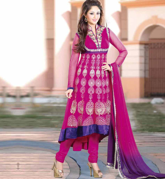 BREATHTAKING PINK ANARKALI RTGIT4002A