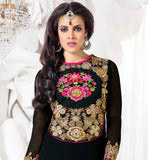 NEW FASHION BLACK PARTY WEAR SALWAR KAMEEZ WITH DUPATTA