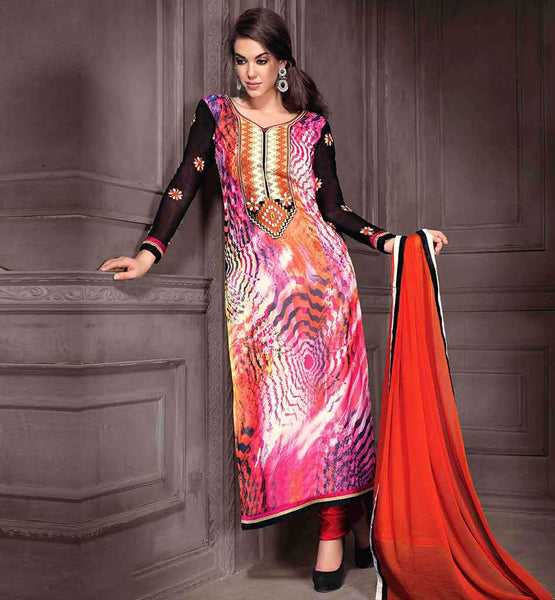 EVER STYLISH DESIGNER 2015 PAKISTANI SALWAR KAMEEZ DESIGNS PRINTED