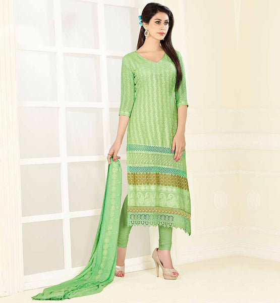 SIMPLE STYLISH PUNJABI SALWAR KAMEEZ SUITS SELF EMBROIDERED STRAIGHT CUT DRESS WITH COTTON SALWAR AND RICH EMBELLISHED DUPATTA