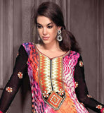 SUPERB PRINT WORK GEORGETTE STRAIGHT CUT SALWAR SUIT