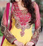 MAGNIFICENT YELLOW ANARKALI RTGIT4003A