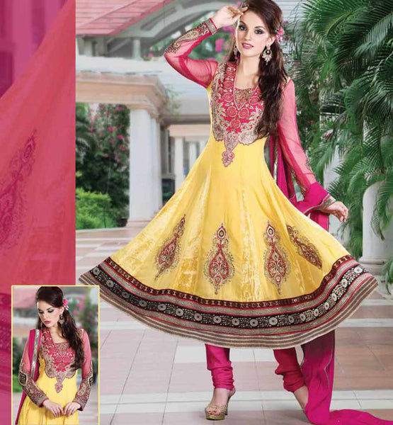 MAGNIFICENT YELLOW ANARKALI