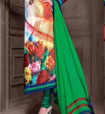 SHOP ONLINE GEORGETTE PARTY WEAR SALWAR KAMEEZ WITH GREEN DUPATTA STYLISHBAZAAR