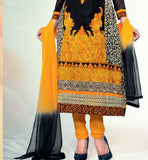 Georgette straight long salwar suit