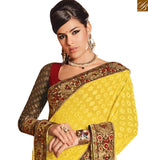 BEAUTIFUL DESIGNER SAREE FOR SPECIAL OCASSIONS RTHTS4005 BY BROWN