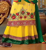 Lara Dutta Yellow Georgette 3PC Lehenga
