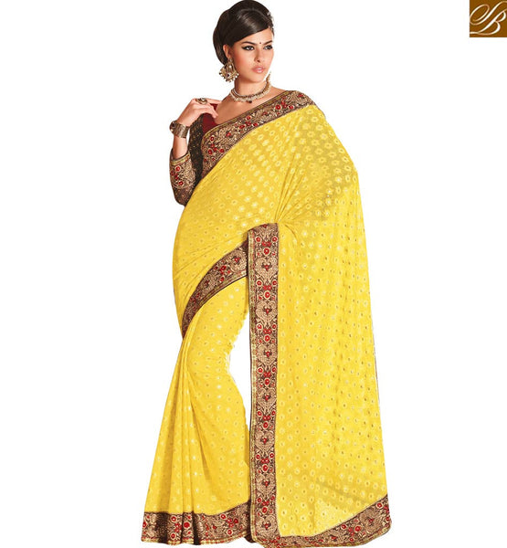 BEAUTIFUL DESIGNER SAREE FOR SPECIAL OCASSIONS RTHTS4005 BY YELLOW