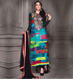 STYLISH DESIGNS of SUITS SALWAR KAMEEZ 2015 COOL ABSTRACT PRINTED