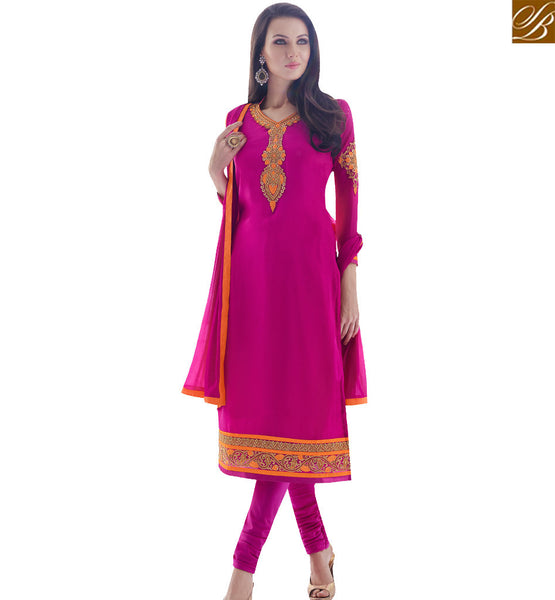 STYLISH BAZAAR CLASSY PINK COLORED DESIGNER SUIT SLAY4006