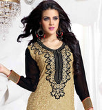 IRRESISTIBLE BEIGE GEORGETTE PARTY WEAR SALWAR KAMEEZ WITH NAZNEEN DUPATTA