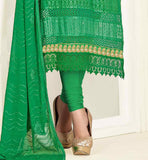 STYLISH EMBROIDERY WORK WITH TIKI WORK IS DONE ON THE TOP AND DUPATTA IS ALSO BEAUTIFULLY EMBELLISHED