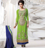 GORGEOUS GREEN GEORGETTE PARTY WEAR SALWAR KAMEEZ FROM STYLISHBAZAAR