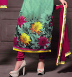 GREEN PRINTED GEORGETTE PARTY WEAR SALWAR KAMEEZ WITH CHIFFON DUPATTA RTANA4009 STYLISHBAZAAR ONLINE SHOP