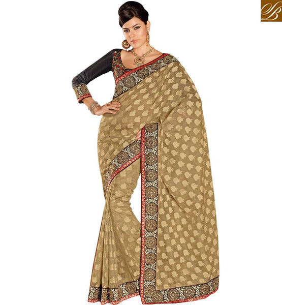 FROM THE HOUSE OF STYLISH BAZAAR CHARMING EMBROIDERED EVENING WEAR SAREE RTHTS4009