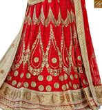 FROM THE HOUSE OF STYLISH BAZAAR DAZZLING MAROON COLOR DESIGNER LEHENGA CHOLI WITH LACE BORDER WORK DUPATTA SLGAJ400A