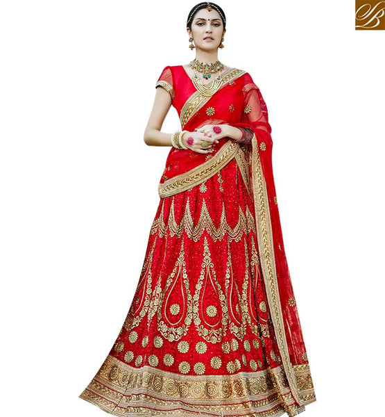 STYLISH BAZAAR DAZZLING MAROON COLOR DESIGNER LEHENGA CHOLI WITH LACE BORDER WORK DUPATTA SLGAJ400A