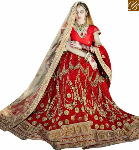 BROUGHT TO YOU BY STYLISH BAZAAR DAZZLING MAROON COLOR DESIGNER LEHENGA CHOLI WITH LACE BORDER WORK DUPATTA SLGAJ400B