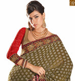 BROUGHT TO YOU BY STYLISH BAZAAR SPECTACULARLY GOOD LOOKING PARTY WEAR SAREE RTHTS4014