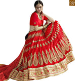 STYLISH BAZAAR BEAUTIFUL MAROON & MAROON NET PERFECTLY ENLIGHTENED LEHENGA CHOLI SLGAJ401A