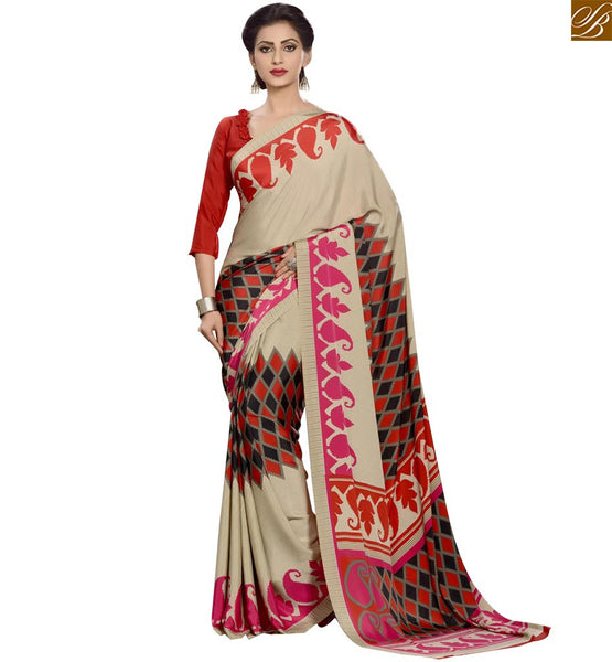STYLISH BAZAAR APPEALING DESIGNER PRINTED SAREE DESIGN RTPAL401