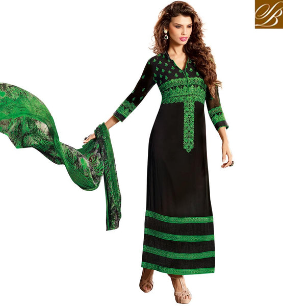 BLACK GEORGETTE SALWAR SUIT RTVIY4024